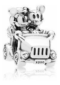 Berloque Carro Vintage Mickey E Minnie