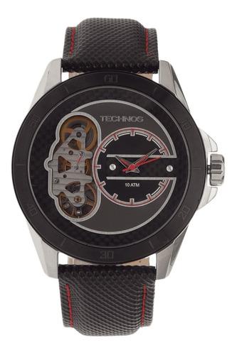 Relógio Masculino Technos Performance Carbon 2039ap/0p Couro