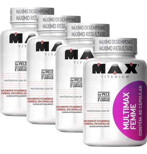 Combo 4 Multimax Femme Feminino Multivitamínico Max Titanium