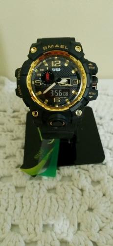 Relógio Militar Smael Dourado - Pronta Entrega