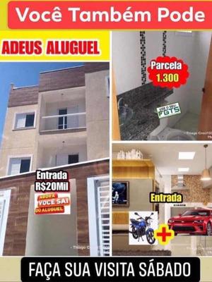Apartamento Pronto Sem Condomínio - Entrada 20 Mil/par1.200