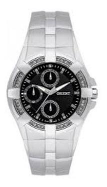 Relógio Orient Original Feminino Prateado C Fundo Preto