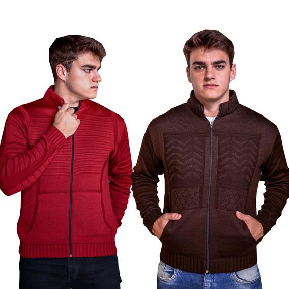 Kit 2 Casaco De Frio Masculino Jaqueta Masculina Blusa Trico
