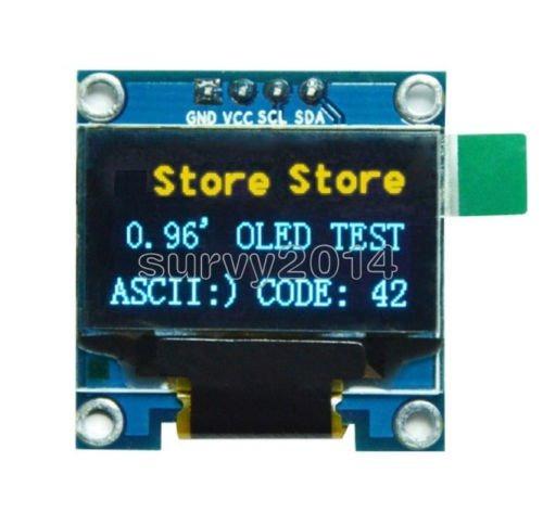 Display Oled 128x64 0.96 I2c Gráfico Arduino Amarelo E Azul