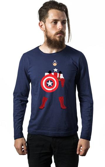 Camiseta Manga Longa Capitão Cod7207