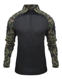 Camisa Combat Shirt Tatica Segurança Azul Marinho Fox Boy