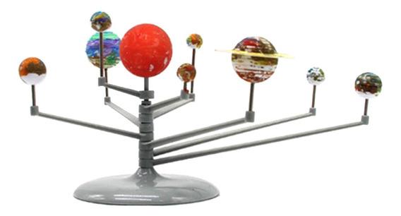 Diy Montagem Brilho Sistema Solar Planetário Modelo Crianç