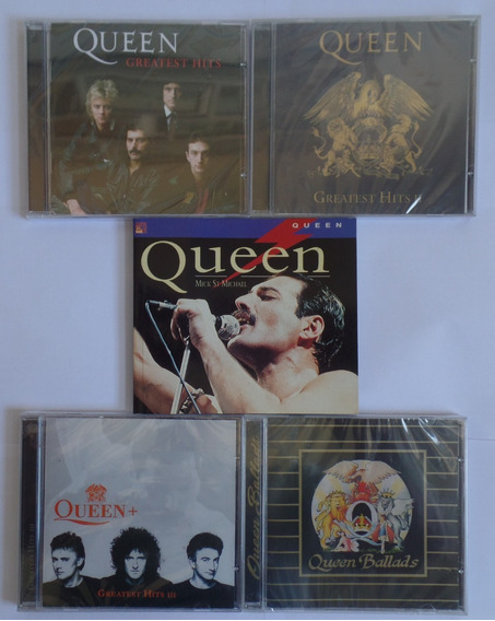 Cd Queen Greatest Hits 1 E 2 + Greatest Hits 3 + Livro Novos