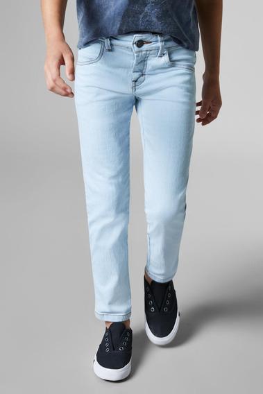 Calca Mini Jeans Combate Azul Claro Reserva Mini