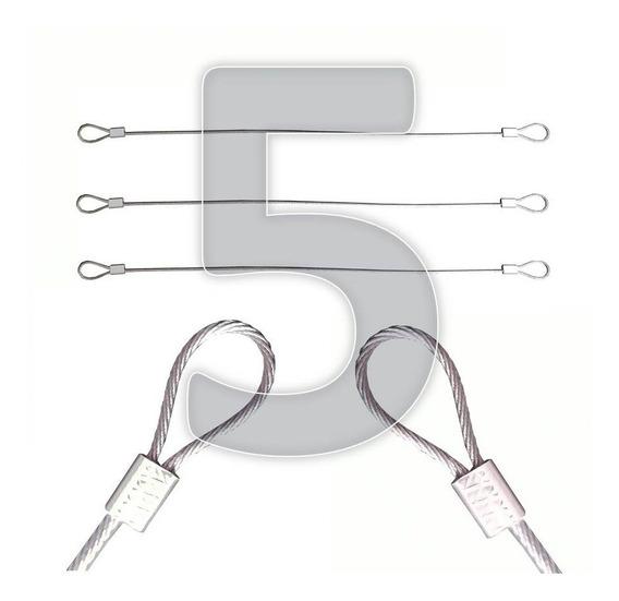 Lacre De Aço Mala Viagem Kit 5 Travas Aço Para Cadeado Ziper