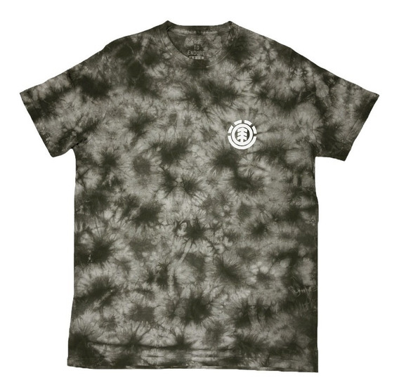 Remera M/c Element Dye Washed Tee Burnt Olive Hombre