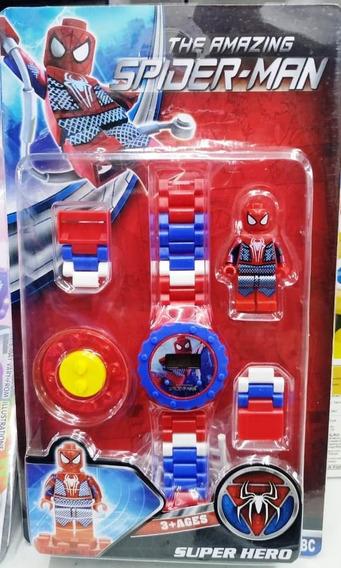 Relógio Infantil Pulseira Personagem Homem Aranha Lego