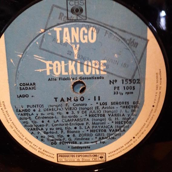 Sin Tapa Disco Tango Y Folklore 2 Canaro Varela Pontier