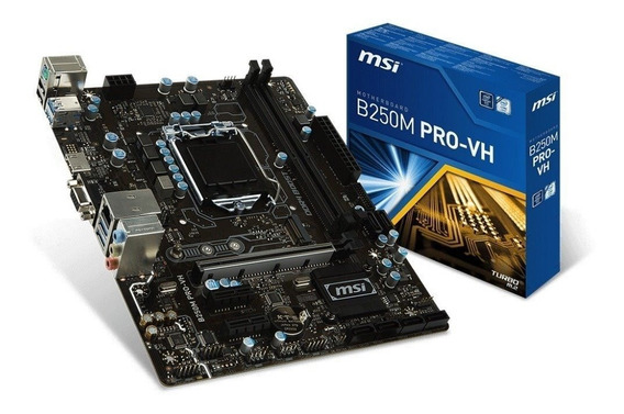 Placa Mãe Msi B250m Pro-vh Ddr4 1151 Intel Chipset B250