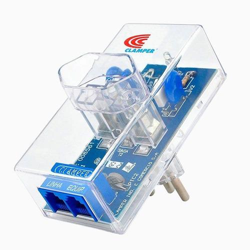 Protetor Eletrônico Energia + Telefone - Clamper