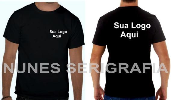 10 Camisas Com Sua Logo Malha Pp