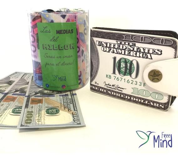 Billetera + Medias Dolares! Atrae El Dinero! + Audio Gratis