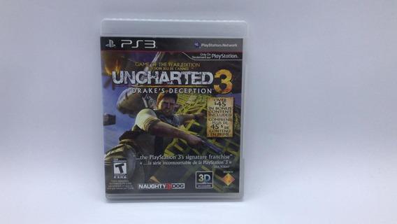 Uncharted 3 - Ps3 - Midia Fisica Em Cd Original