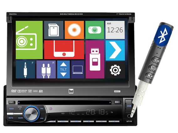 Pantalla Estereo Simple Din In Dash Dvd Bluetooth Dual 1014