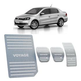 Kit Pedaleira + Descanso Volkswagen Voyage G5 E G6 Aço Inox