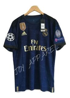 Blusa Camisa Azul adidas Real Madrid 19/20 Pronta Entrega
