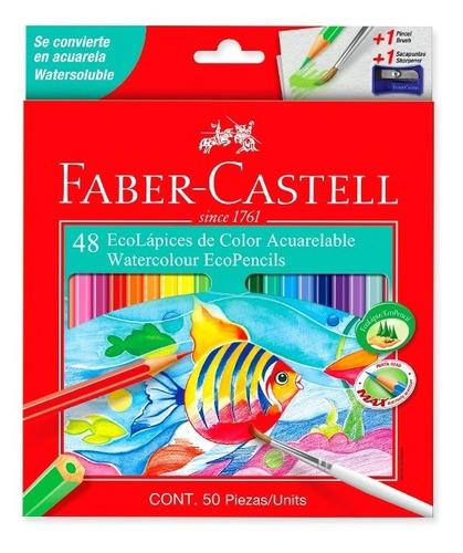 Imagen 1 de 6 de Lapices De Colores Acuarelables Faber-castell X48 Nuevo