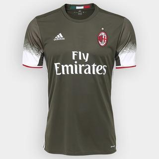 Camisa Do Milan Verde Nova Exército Time Itália Futebol