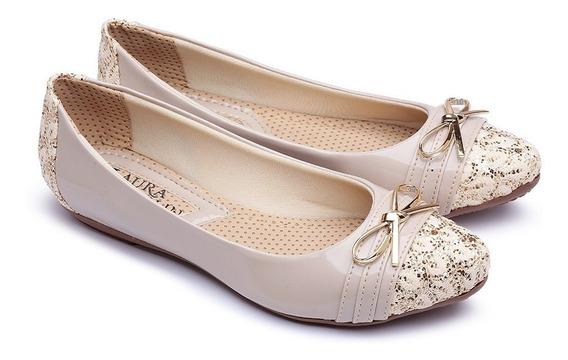 Sapato Sapatilha Feminina Luxo Confortavel Promoçao