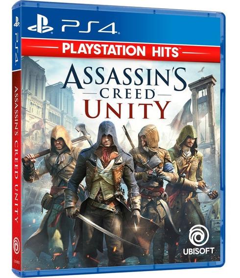 Assassins Creed Unity Ps4 Novo Lacrado Midia Fisica Lacrado