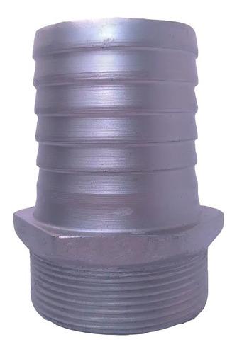 Acople Macho  1 1/2 Pulgadas En Aluminio X 6 Unidades