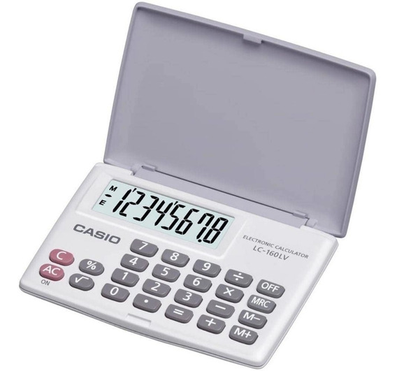 Calculadora Portátil Casio Branca 8 Dígitos - Lc-160lv-we