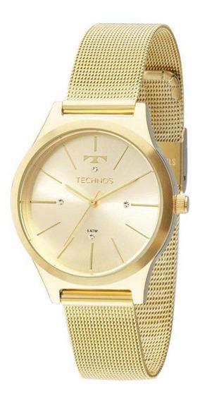 Relógio Technos Dourado Feminino Fashion Trend Analógico