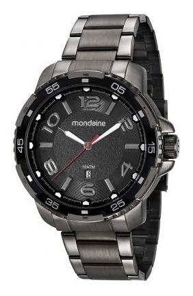 Relógio Mondaine Masculino Preto 53703gpmvse1