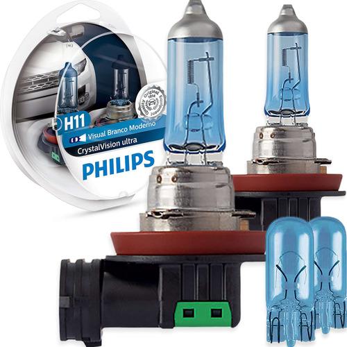 Imagem 1 de 6 de Kit Lâmpada Philips Crystal Vision Ultra H11 55w-12v 4300k