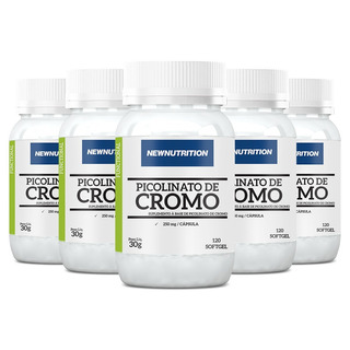 Picolinato De Cromo - 5x 120 Cápsulas - Newnutrition