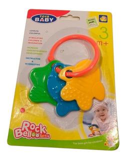 Sonajero De Juguete Para Bebé 3 Pescaditos Colores Cuotas