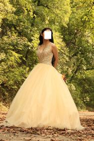 Vestido Xv Años Dorado