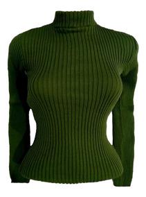 Blusa Lã Básica Feminina Canelada