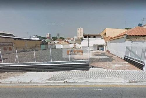 Terreno Para Alugar, 1310 M² Por R$ 15.900,00/mês - Santa Paula - São Caetano Do Sul/sp - Te0777
