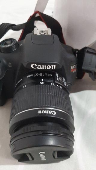 Kit Câmera Canon T5 Eos Rebel Com 2 Lentes 18×35 75×100