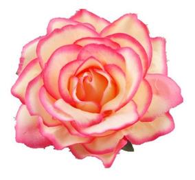 Enfeite Arranjo Cabelo Noiva Flor Tecido Rosa Vermelho Vário