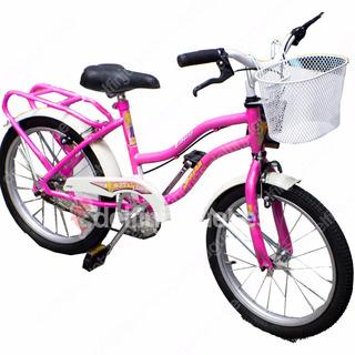 Bicicleta Liberty Sasha Rosa Rodado 16 Con Canasto