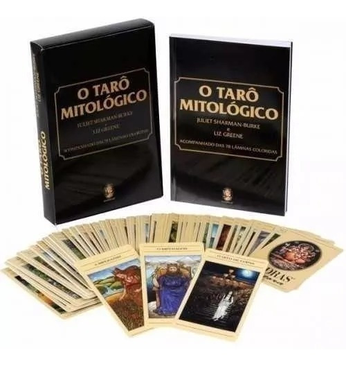 Tarô Mitológico Livro E Tarot E Brinde Estojo Para Cartas