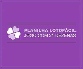 Planilha Lotofácil - 10 Jogos Com 21 Dezenas
