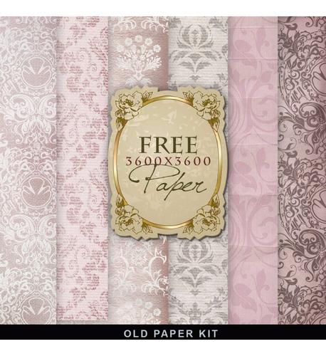 Pack 6 Fondos Shabby Chic Style Rosa Vintage Papel Tapiz