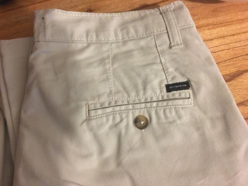 Pantalon Kevingston Gabardina Color Beige Claro Talle 40