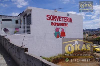Salão Comercial À Venda, Conjunto Residencial Do Bosque, Mogi Das Cruzes. - Cód. Sl0006 - Sl0006