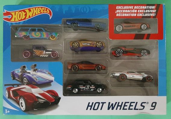 Set 9 Carritos Hotwheels Carros 9 Pack Originales