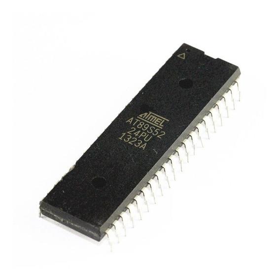 Microcontrolador At89s52-24pu Dip-40