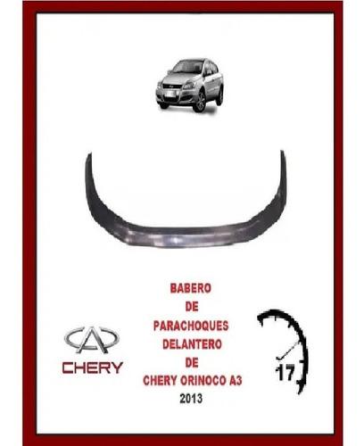 Babero  Parachoques Delantero Chery Orinoco A3 2013 14 15 16